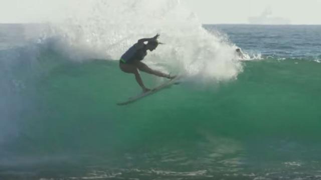 Bethany Hamilton Surfing Trestles
