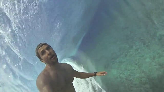 Bruno Santos in Tahiti with His GoPro
