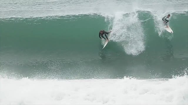 Perfect Dawn Surf Session in South West France
