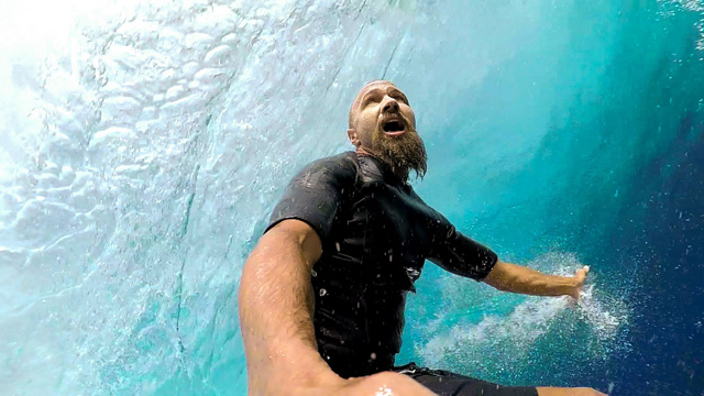 Cloudbreak Barrel with Stephan Figueiredo on his GoPro