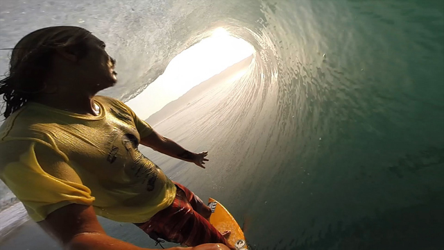 Sunset Barrels at Mikala Jones' Secret Spot