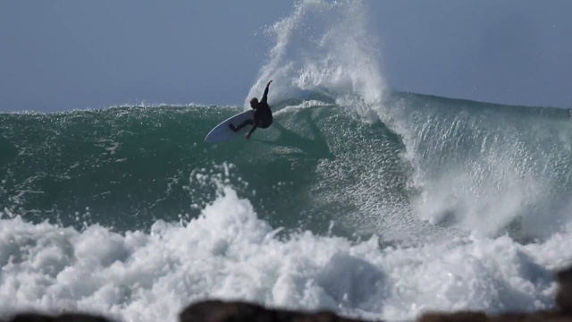 Kelly Slater and Sean Holmes Shredding J-Bay