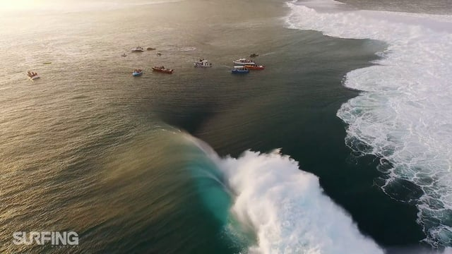 Massive Teahupoo Drone Video
