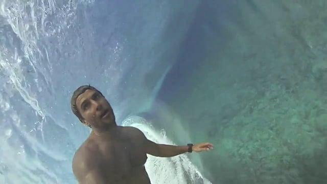 Bruno Santos in Tahiti with His GoPro