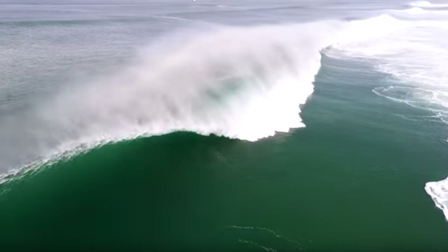 Drone Video of Pumping Hossegor in France