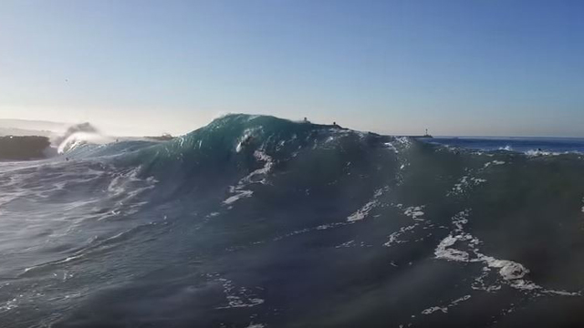 Drone Video of The Wedge Looking Surfable