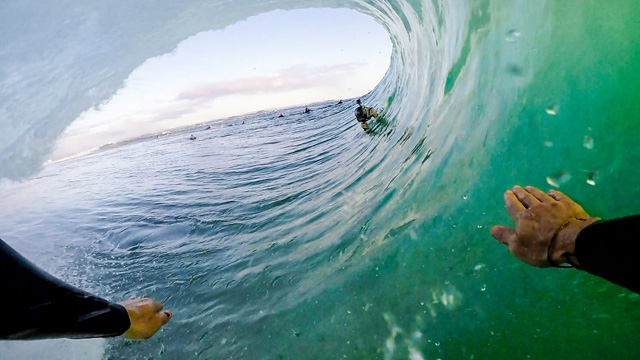Jarrah Tutton Getting Pitted at Snapper Rocks