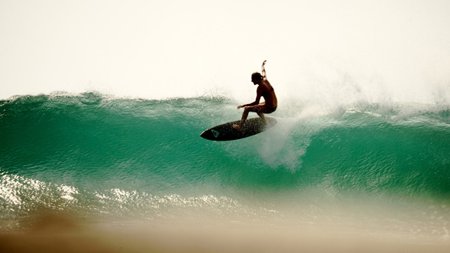 Stephanie Gilmore Surfing Perfect South American Point Breaks